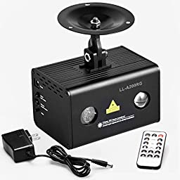 Decolighting Mini DJ RGB Laser Light with IR Remote Control