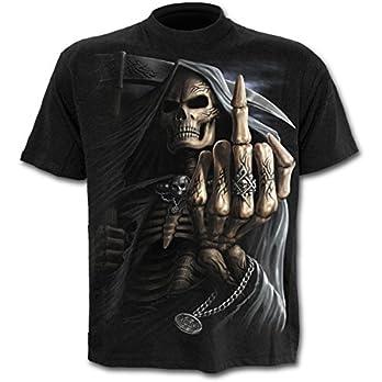 Spiral Bone Finger T-Shirt schwarz