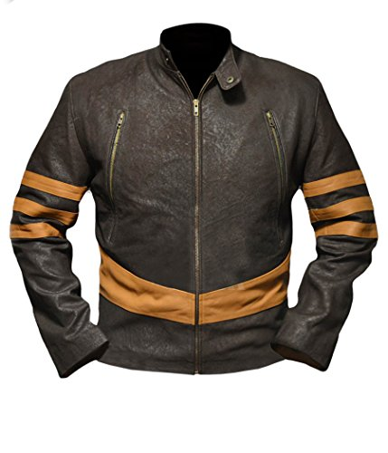 Cyclops X Men Costumes Kids (F&H Boy's X-Men Origins Wolverine Genuine Leather Jacket S Brown)