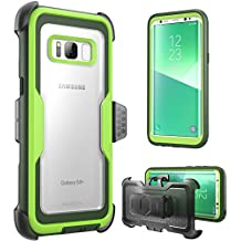 i-Blason Galaxy S8 Case, [Armorbox]  [Full body] [Heavy Duty Protection ] Shock Reduction / Bumper Case WITHOUT Screen Protector for Samsung Galaxy S8 2017 Release (Green)