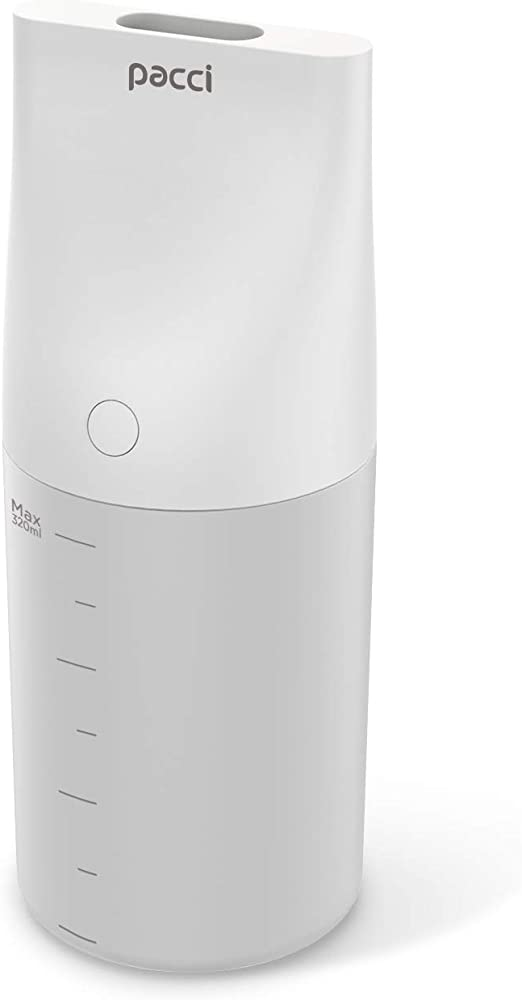 Humidificador pequeño de vapor con purificador aire USB Vaporizador Mini automóvil humidificador portátil, funcionamiento silencioso Mist Difusser, apagado automático, 320 ml, 18 horas de uso, blanco: Amazon.es: Hogar