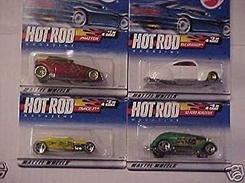 HOT WHEELS 2000 HOT ROD Magazine Series Set Phaeton,Track T,Tail Dragger,33 Ford