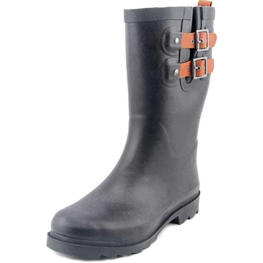Chooka Top Solid Women US 6 Black Rain Boot