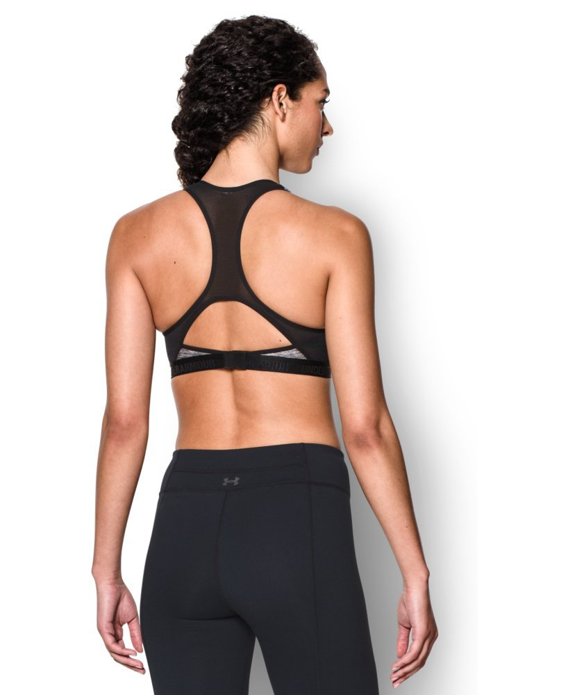 Under Armour Women's Armour High Bra, Carbon Heather (090)/Black, 32A by Under Armour (Image #2)