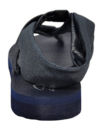 Skechers Cali Women's Meditation Slingback Yoga Flip-Flop,Navy/Silver Gem,8 M US by Skechers (Image #3)