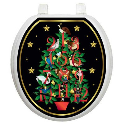 Toilet Tattoos 12 Days of Christmas Decorative Applique For Toilet Lid