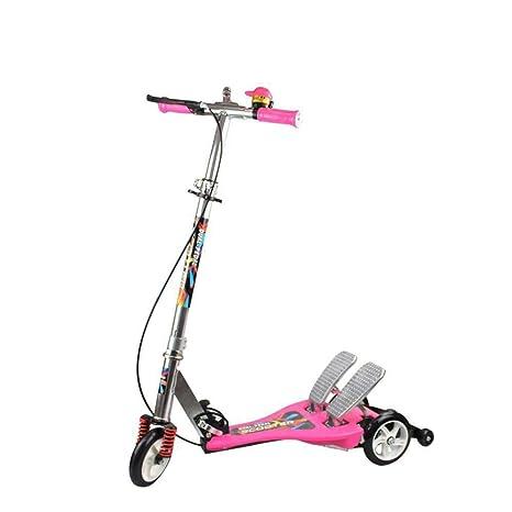 Yunfeng Patinete Niños Scooter de Pedal Doble para niños ...