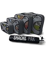 Shacke Pak - 5 Set Packing Cubes - Travel Organizers with Laundry Bag (Dark Grey)
