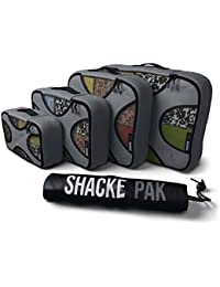 Pak - 4 Set Packing Cubes - Travel Organizers with Laundry Bag