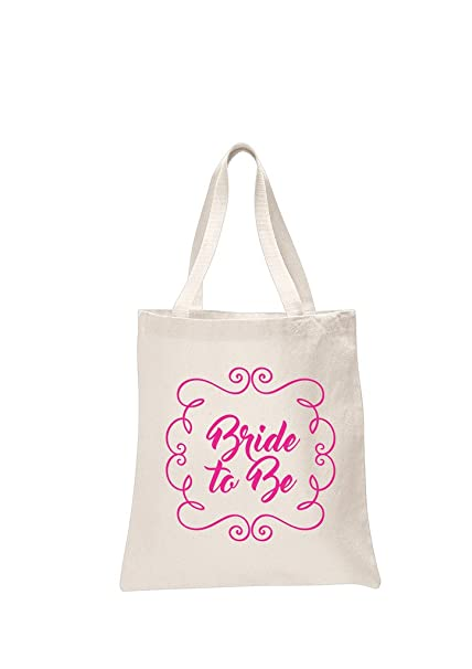 Bride to be natural bridal pink printed wedding favour tote bags brides hen party gift bags