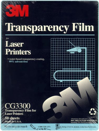 CG3300 Transparency Film for Laser Printers 50 ()
