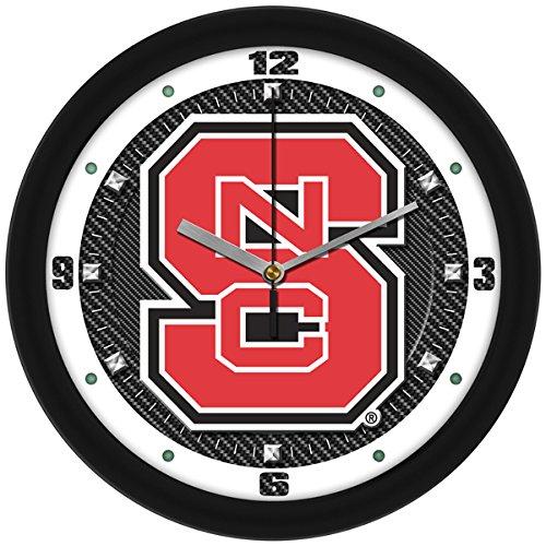 (SunTime NCAA North Carolina State Wolfpack Textured Carbon Fiber Wall Clock)