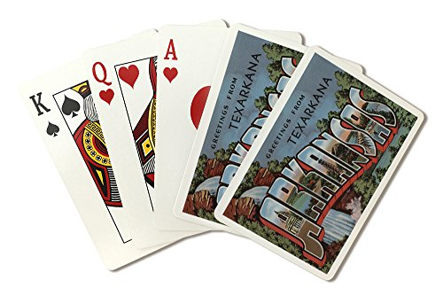 Greetings from Texarkana, Arkansas (Waterfall) (Playing Card Deck - 52 Card Poker Size with Jokers)