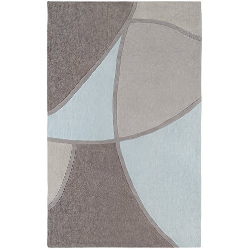 Surya Cosmopolitan COS-8888 Contemporary Hand Tufted 100% Polyester Taupe 5' x 8' Abstract Area Rug