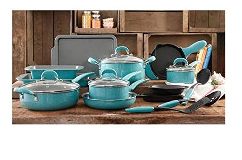 Amazoncom The Pioneer Woman Vintage Speckle 20 Piece Blue Cookware