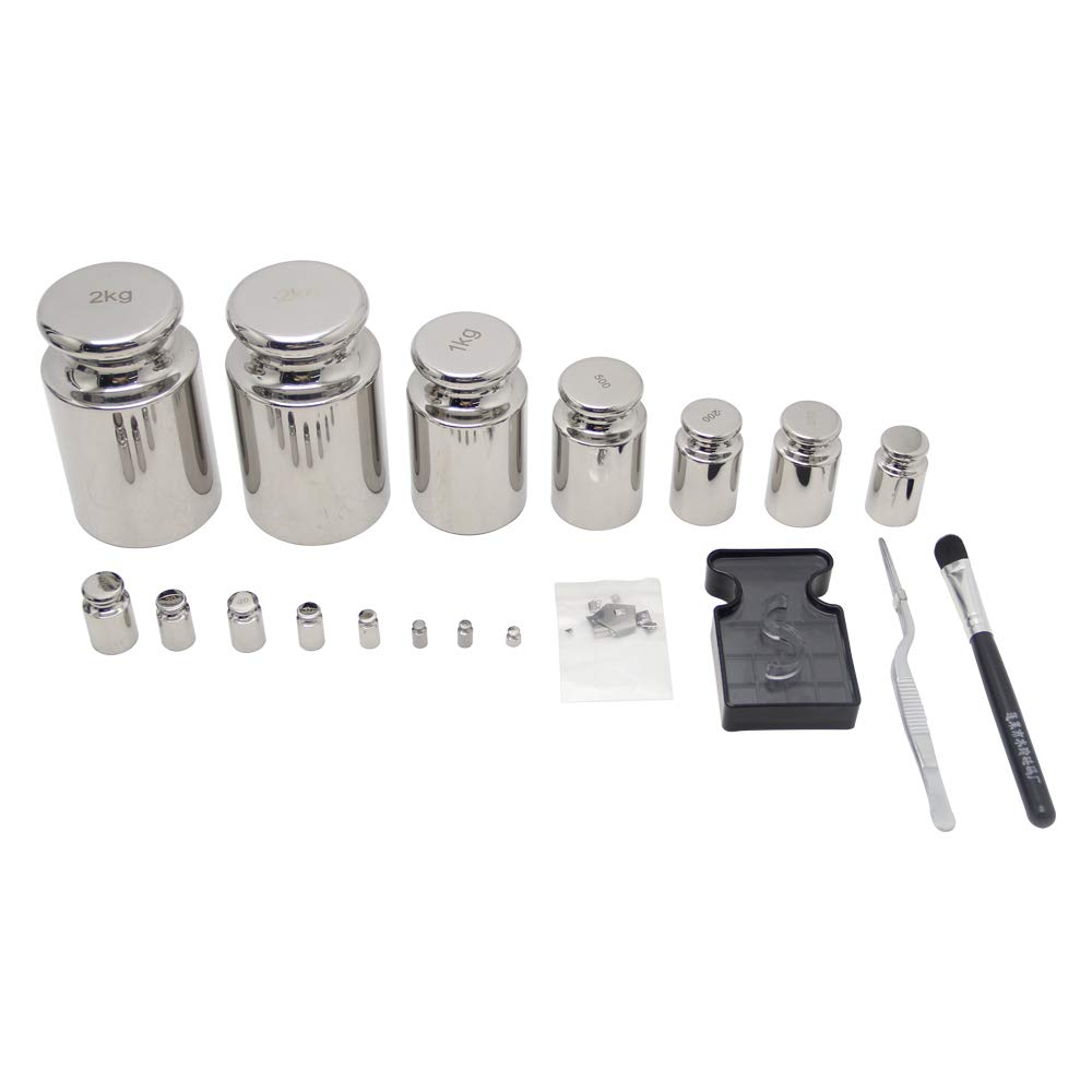 Huanyu F1 Calibration Weight Kit Stainless Steel High Precision 1mg-1kg 25pcs