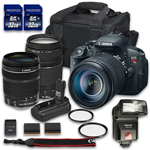 Canon EOS T5i Camera Bundle with Canon EF-S 18-135...