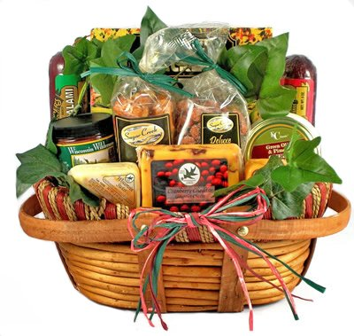 Cheese and Sausage Gift Basket for Any Occassion