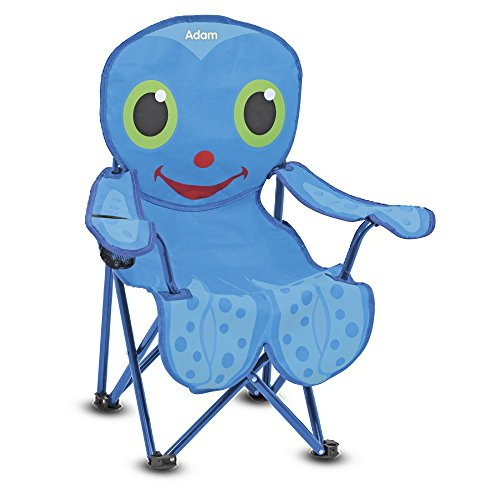 Melissa & Doug Personalized Sunny Patch Flex Octopus Folding Beach Chair For Kids -