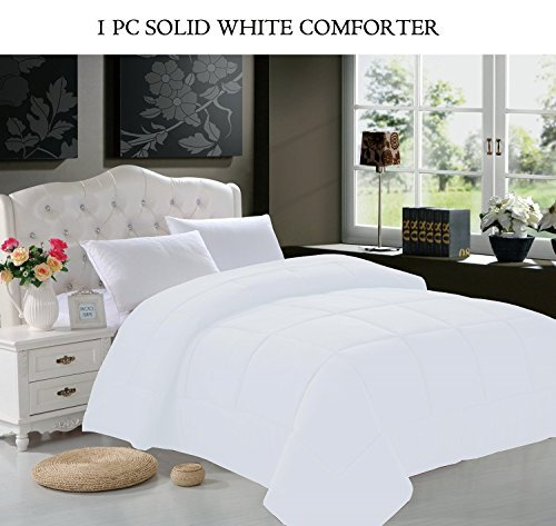 Elegant Comfort All Season Goose Down Alternative Double-Fill Comforter, Full/Queen, White (Elegant Comfort Goose)