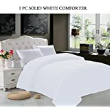 Elegant Comfort Luxurious Super Soft Goose Down Alternative Double-Fill Comforter Duvet Insert, King, White