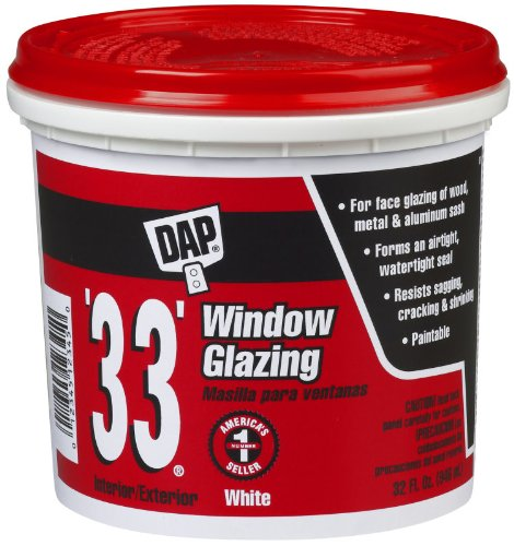 DAP ''33'' Window Glazing 12122 Qt White