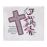 CafePress - Faith With Cross - Soft Fleece Throw Blanket, 50''x60'' Stadium Blanket