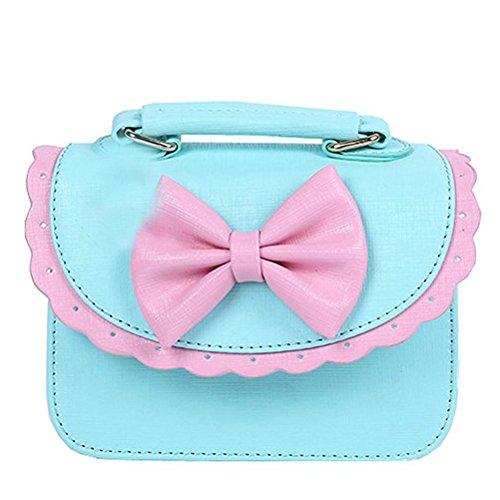 Donalworld Kid Girl Sweet Cute Lace Bowknot Handbag Blue