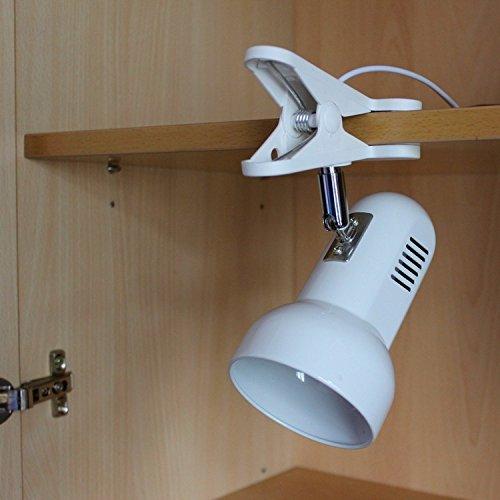 GUTOU-TD Tischlampe Adapter-Stecker, Der Tragbare Led-Schreibtisch-Lampen-Klipp Auf Schreibtisch-Tabellen-Buch-Leselicht Für Lesungs-Studien-Ausgangsnotfall, Weiß Dreht [Energieklasse A+++] Weiß Dreht GUTOU-TD-CC