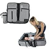 3 in 1 Travel Bassinet | Diaper Bag | Portable Change Station | Multi-functional Premium Quality Water-resistant Baby Travel Crib | Baltic Bub Infant Carrycot