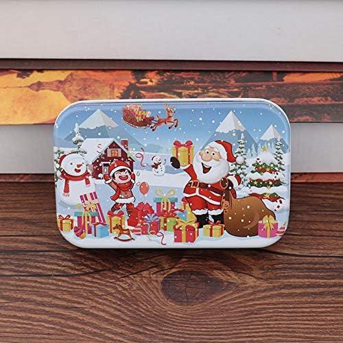XIYI クリスマスDIYギフトバッグフィラー60個収納ボックス付き子供用手作りサンタクロースパズルおもちゃ 雪のセクション