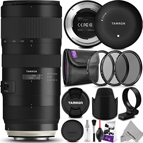 Tamron SP 70-200mm f/2.8 Di VC USD G2 Lens for Canon EF Cameras w/Tamron Tap-in Console and Essential Photo Bundle (Tamron 6 Year Limited USA Warranty)