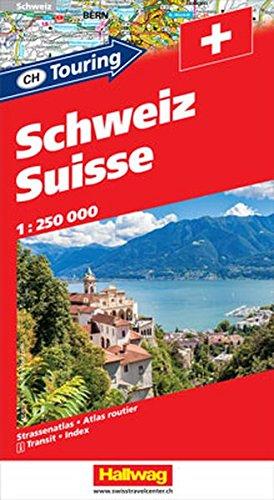 Hallwag Strassenatlanten, Schweiz, CH Touring (Hallwag Strassenkarten)