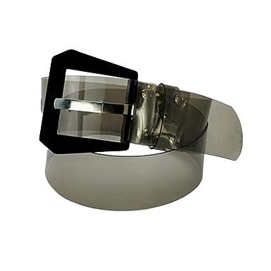 98f8c8cd76a3 Transparent Carrée Femmes PVC Taille iShine Ceinture Boucle Clair fp5qYTw