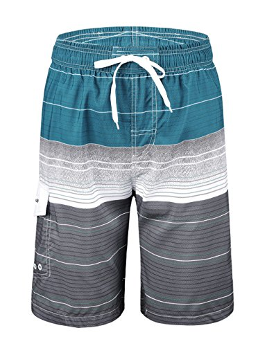 Nonwe Men's Swimwear Quick Dry Striped Swim Trunks Striped Light Blue - Striped Swim Shorts