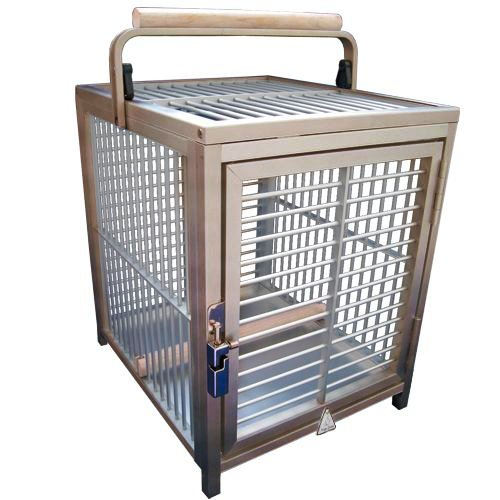 Parrot Travel Carriers (KINGS CAGES ATT 1214 ALUMINUM PARROT Bird Cage pet travel carriers cages toy toys (BRONZE))