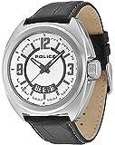 POLICE - PL.13404JS/04 - Montre Homme - Quartz Analogique - Bracelet Cuir Noir