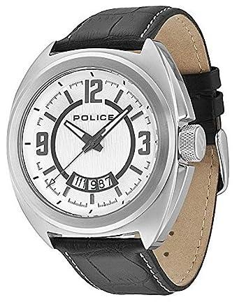POLICE PL.13404JS/04 - Reloj analógico de cuarzo para hombre con correa de piel, color negro: tictocwatches: Amazon.es: Relojes