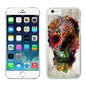 Fun Iphone 6 Case 4.7 Inches, Art Skull Cool White Hard Back Cover Case for Apple Iphone 6