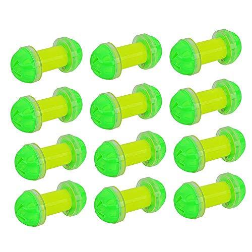 - Cat Bells, 12pcs/Set Cat Dumbbell Bell Balls Pet Sound Rattle Plastic Interactive Toys