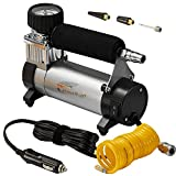 Tools & Hardware : Portable Air Compressor, Hausbell Air Compressor Kit Mini DC12V Multi-Use Oil-Free Air Tools Tire Inflator