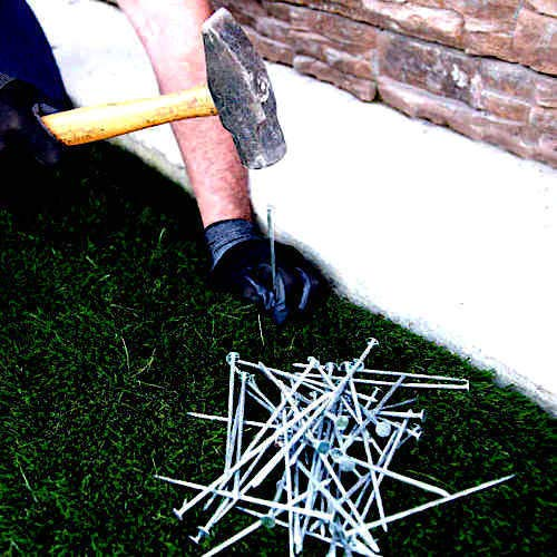 """6"""" Galvanized Landscaping Spike Nails for Artificial Synthetic Grass Turf from Unknown"""
