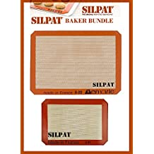 """Silpat Bakers Bundle (US Half Size 11-5/8"""" x 16-1/2"""" Silicone Baking Mat & 8-1/4"""" x 11-3/4"""" Jelly Roll)"""