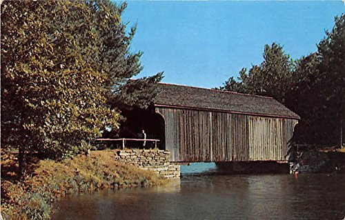Covered Bridge from Dummerston Mill Pond Old Sturbridge Village Massachusetts Postcard