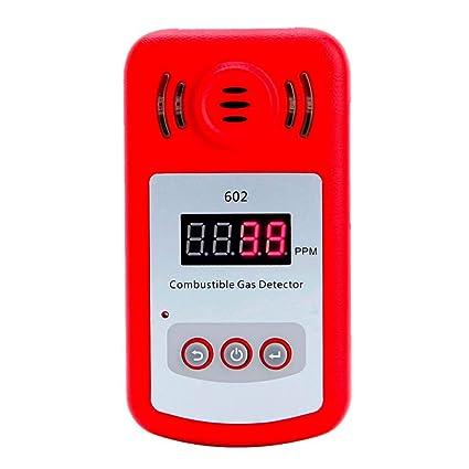 Huanyu KXL-602 - Detector de Fugas de Gas inflamable con Sensor Rojo para Gas