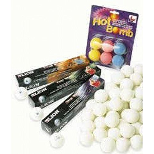 Lion 3 Star Table Tennis Balls Pack 12 by Lion