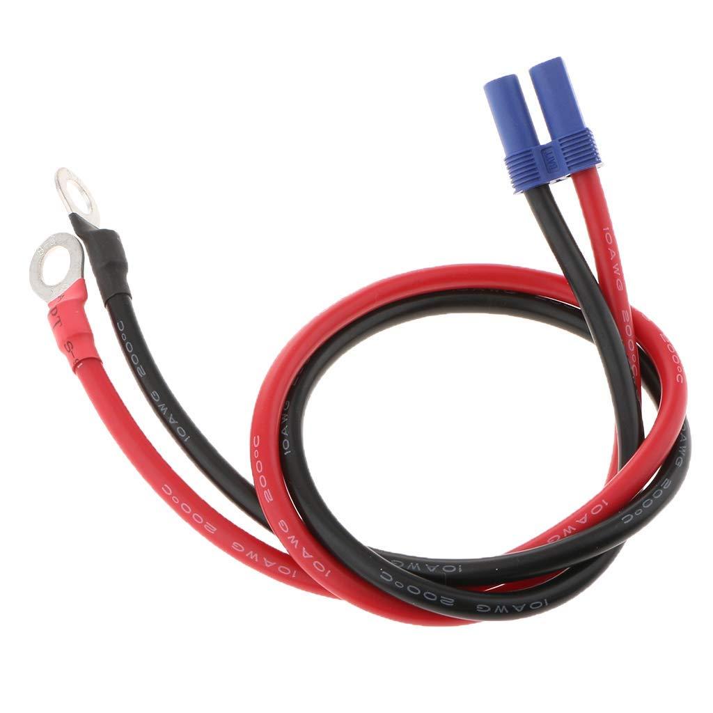 DC 12-24 V 60 A EC5 a Anillo Terminal arn/és Adaptador Cables Conector para arrancador de Coche 500 mm