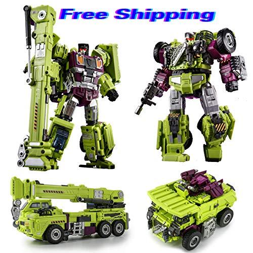 JINBAO Devastator Toys Transformer Robot Car Excavator Crane TF Engineering KO GT Gift for Kids Boys (Set C) (Transformers Toy Devastator)