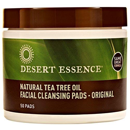 - Desert Essence, Natural Tea Tree Oil Facial Cleansing Pads, Original, 50 Pads - 2pc