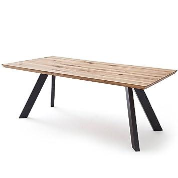 Esstisch Esszimmertisch Tisch Baloo 200x100 Cm Modernes Industrie Design Massivholz Holz Eiche Massiv